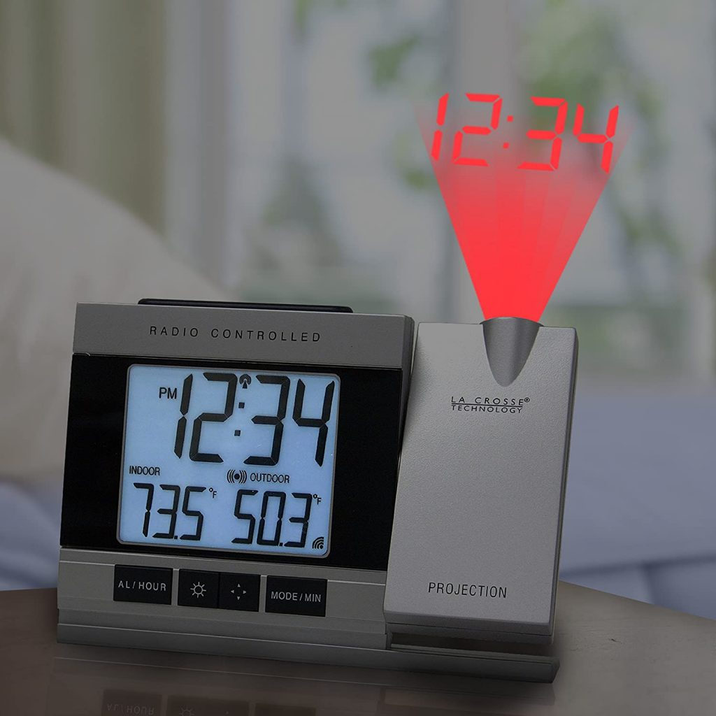 crosse tech ceiling projection alarm clock