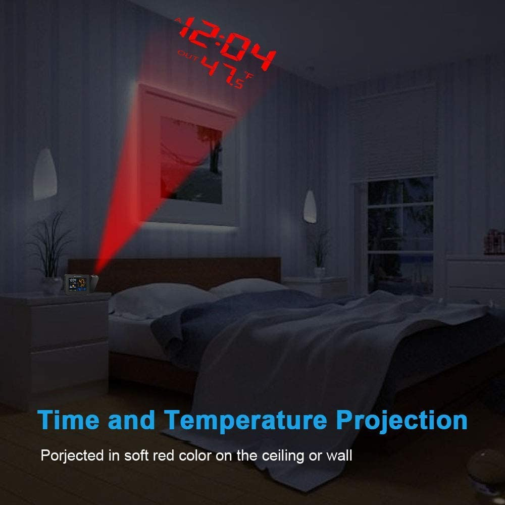 smartro ceiling projection alarm clock with room temperature