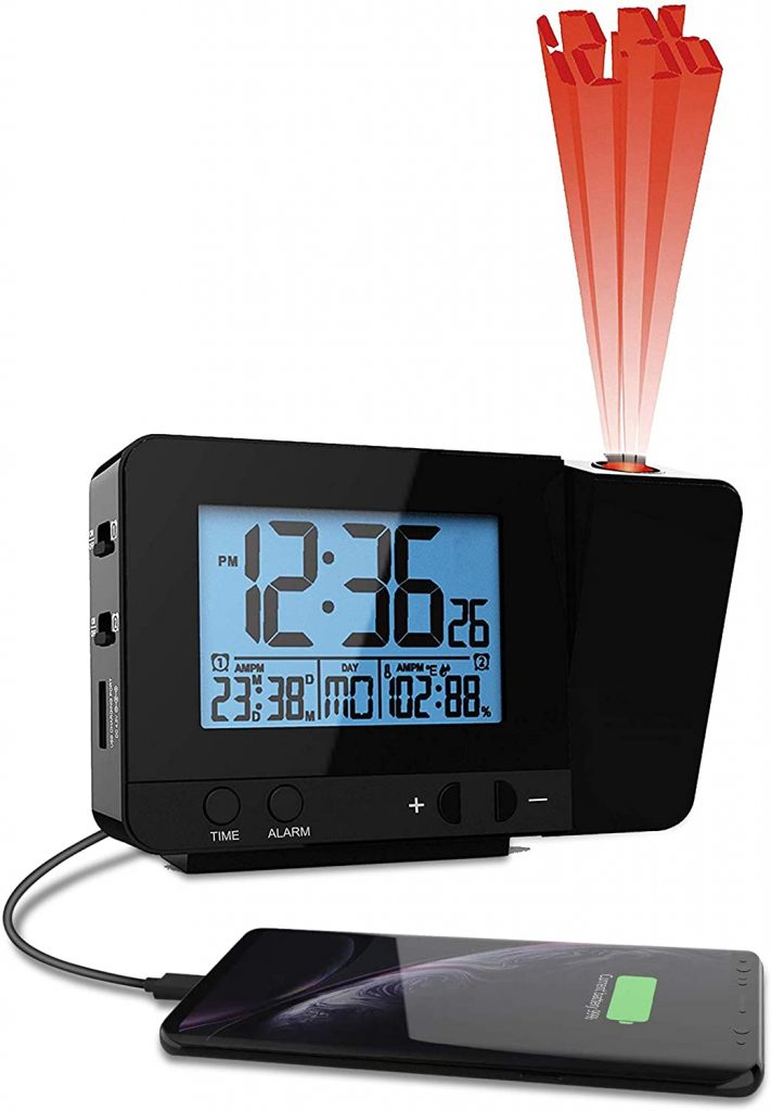 think gizmo projection alarm clock
