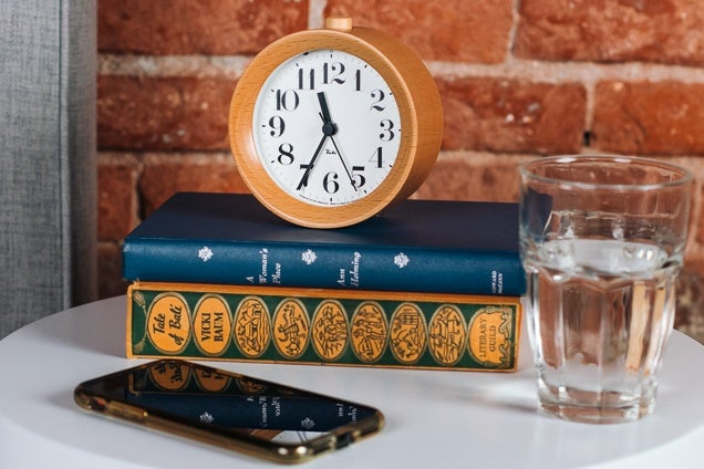 Best Vintage Analogue travel alarm clock in leather case